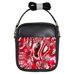 Winter Fractal 5 Girls Sling Bag