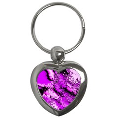 Winter Fractal 7 Key Chains (heart)  by MoreColorsinLife