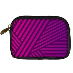 Pattern Lines Stripes Texture Digital Camera Leather Case