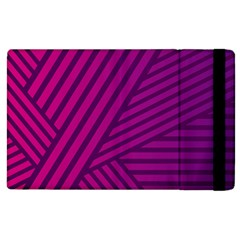 Pattern Lines Stripes Texture Apple Ipad 3/4 Flip Case by Wegoenart