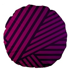 Pattern Lines Stripes Texture Large 18  Premium Flano Round Cushions