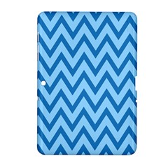 Blue Chevron Background Abstract Pattern Samsung Galaxy Tab 2 (10 1 ) P5100 Hardshell Case