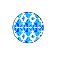 Blue Background Cubes Abstract Wallpapers Hat Clip Ball Marker (4 Pack)