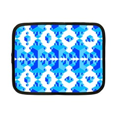 Blue Background Cubes Abstract Wallpapers Netbook Case (small) by Wegoenart