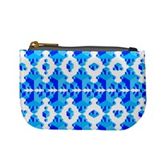 Blue Background Cubes Abstract Wallpapers Mini Coin Purse