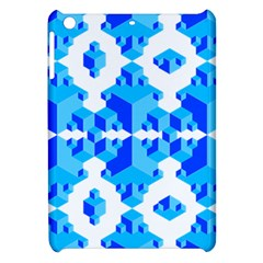 Blue Background Cubes Abstract Wallpapers Apple Ipad Mini Hardshell Case