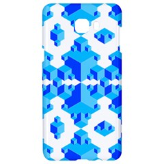 Blue Background Cubes Abstract Wallpapers Samsung C9 Pro Hardshell Case
