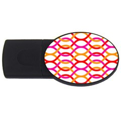 Art Background Abstract Usb Flash Drive Oval (2 Gb)