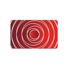 Background Circles Red Magnet (name Card)