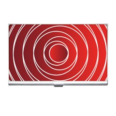 Background Circles Red Business Card Holder
