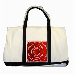 Background Circles Red Two Tone Tote Bag