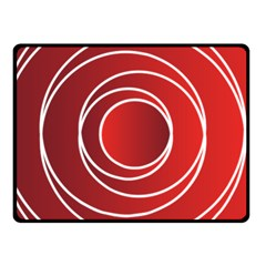 Background Circles Red Fleece Blanket (small) by Wegoenart