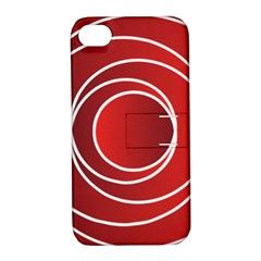 Background Circles Red Apple Iphone 4/4s Hardshell Case With Stand