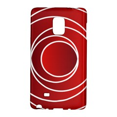 Background Circles Red Samsung Galaxy Note Edge Hardshell Case