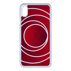 Background Circles Red Apple Iphone Xs Max Seamless Case (white) by Wegoenart