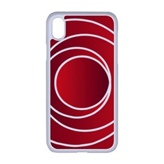 Background Circles Red Apple Iphone Xr Seamless Case (white)