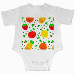 Pattern Fruit Fruits Orange Green Infant Creepers