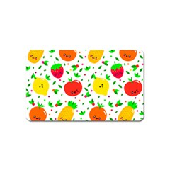 Pattern Fruit Fruits Orange Green Magnet (name Card)