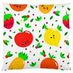 Pattern Fruit Fruits Orange Green Large Cushion Case (two Sides)