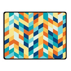 Geometric Retro Wallpaper Fleece Blanket (small) by Wegoenart