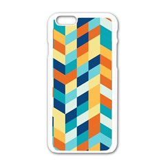 Geometric Retro Wallpaper Apple Iphone 6/6s White Enamel Case