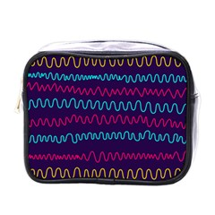 Background Waves Abstract Background Mini Toiletries Bag (one Side) by Wegoenart