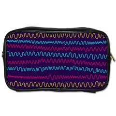 Background Waves Abstract Background Toiletries Bag (one Side)