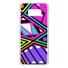 Background Abstract Pattern Samsung Galaxy S8 Plus White Seamless Case