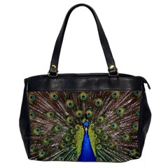 Peacock Bird Plumage Display Full Oversize Office Handbag (2 Sides)