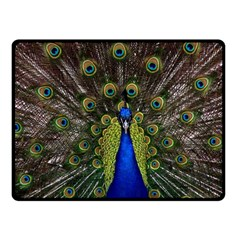 Peacock Bird Plumage Display Full Fleece Blanket (small) by Wegoenart