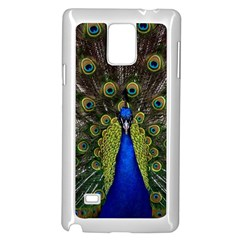 Peacock Bird Plumage Display Full Samsung Galaxy Note 4 Case (white) by Wegoenart