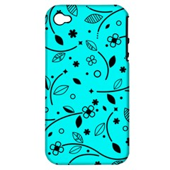 Pattern Flowers Flower Texture Apple Iphone 4/4s Hardshell Case (pc+silicone)