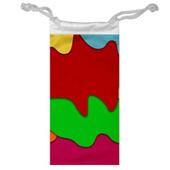 Liquid Forms Water Background Jewelry Bag