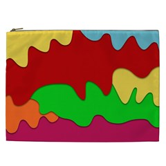 Liquid Forms Water Background Cosmetic Bag (xxl)