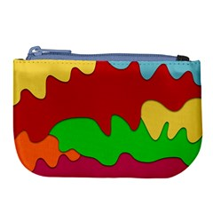Liquid Forms Water Background Large Coin Purse