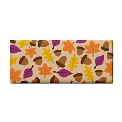 Acorn Autumn Background Boxes Fall Hand Towel