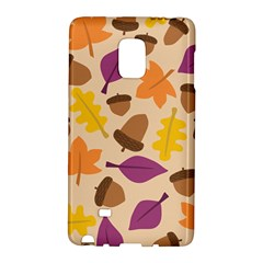 Acorn Autumn Background Boxes Fall Samsung Galaxy Note Edge Hardshell Case