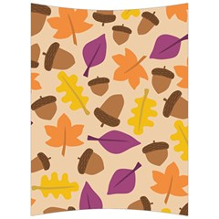 Acorn Autumn Background Boxes Fall Back Support Cushion