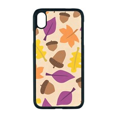 Acorn Autumn Background Boxes Fall Apple Iphone Xr Seamless Case (black)