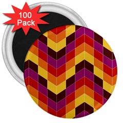 Geometric Pattern Triangle 3  Magnets (100 Pack)