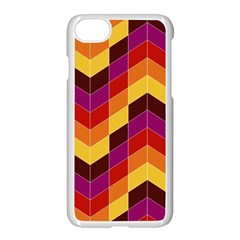 Geometric Pattern Triangle Apple Iphone 8 Seamless Case (white)