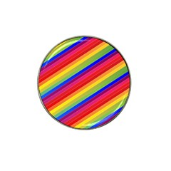Rainbow Background Colorful Hat Clip Ball Marker (4 Pack)