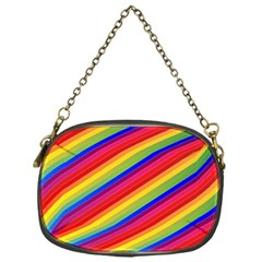 Rainbow Background Colorful Chain Purse (one Side)