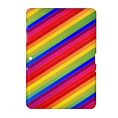 Rainbow Background Colorful Samsung Galaxy Tab 2 (10 1 ) P5100 Hardshell Case