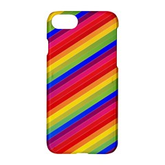 Rainbow Background Colorful Apple Iphone 7 Hardshell Case by Wegoenart