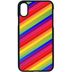 Rainbow Background Colorful Apple Iphone Xs Seamless Case (black)