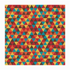 Background Triangles Retro Vintage Medium Glasses Cloth (2 Side)