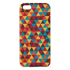 Background Triangles Retro Vintage Apple Iphone 5 Premium Hardshell Case