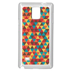 Background Triangles Retro Vintage Samsung Galaxy Note 4 Case (white) by Wegoenart