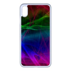 Background Art Pattern Apple Iphone Xs Max Seamless Case (white)